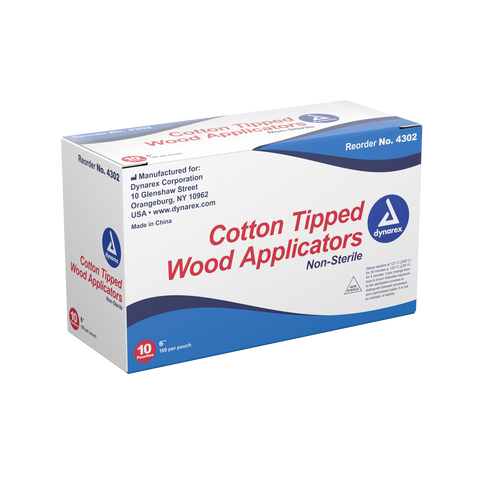 DYNAREX cotton tipped wood applicators