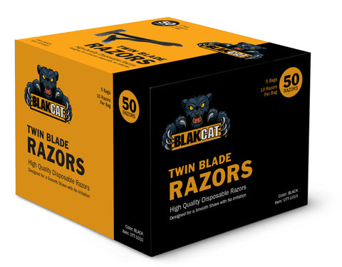 UG Black Cat Twin Blade Razors (50 per Box)