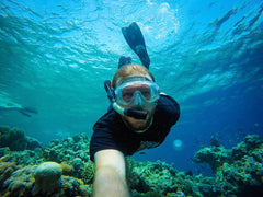 Christopher Waddell Snorkelling in Fiji