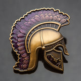Centurion Geocoin: Antique Gold/Purple