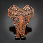 LE Ella-Phant Geocoin: Antique Copper