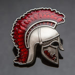 Centurion Geocoin: Antique Silver/Red