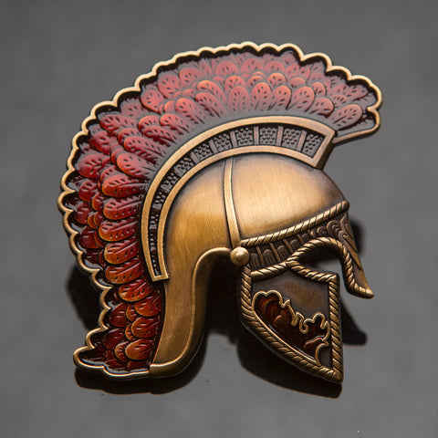 Centurion Geocoin: Antique Gold/Red