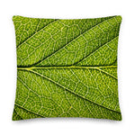 'Macro Cherry Leaf' Cushion