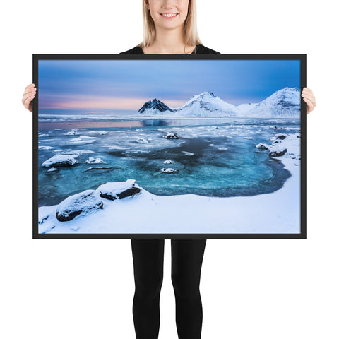 Framed 'Frozen Sunrise' Premium Print