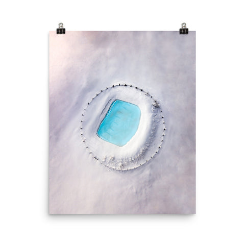'Frozen from Above' Print