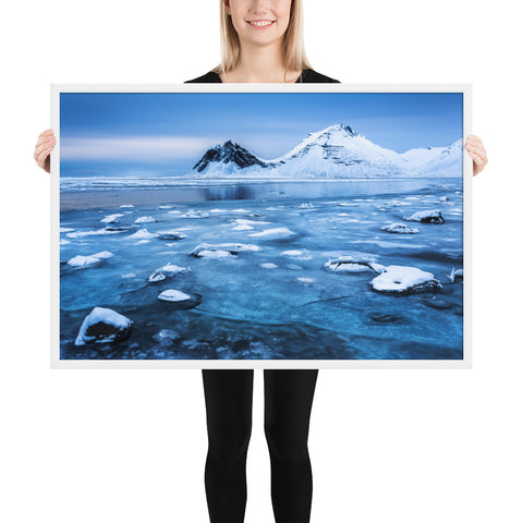 Framed 'Frozen Bay' Premium Print