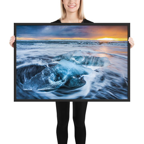 Framed 'Diamond Beach' Premium Print