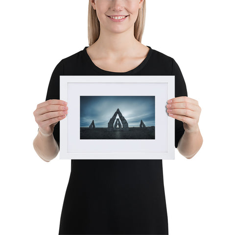'Arctic Henge' Framed Matte Print with White Border