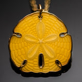 Sand Dollar Pendant: Yellow