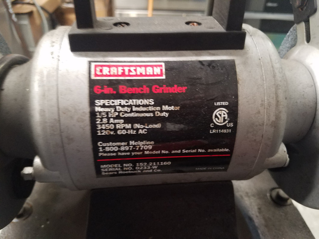 Craftsman 1/6 hp 6