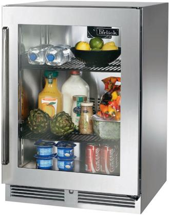 Perlick Signature Series 24 Inch Built In Counter Depth Compact Refrigerator