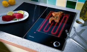 Miele   11 3/8 Inch CombiSet Electric Contact Griddle Cooktop