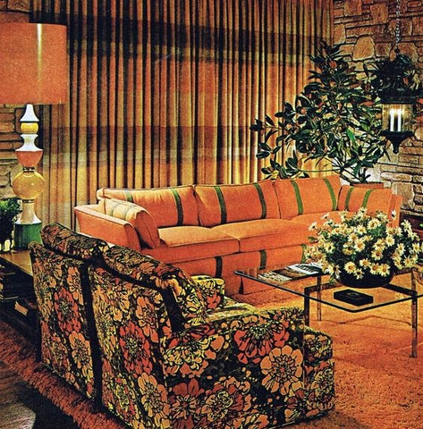 Orange 1970s Lounge Room