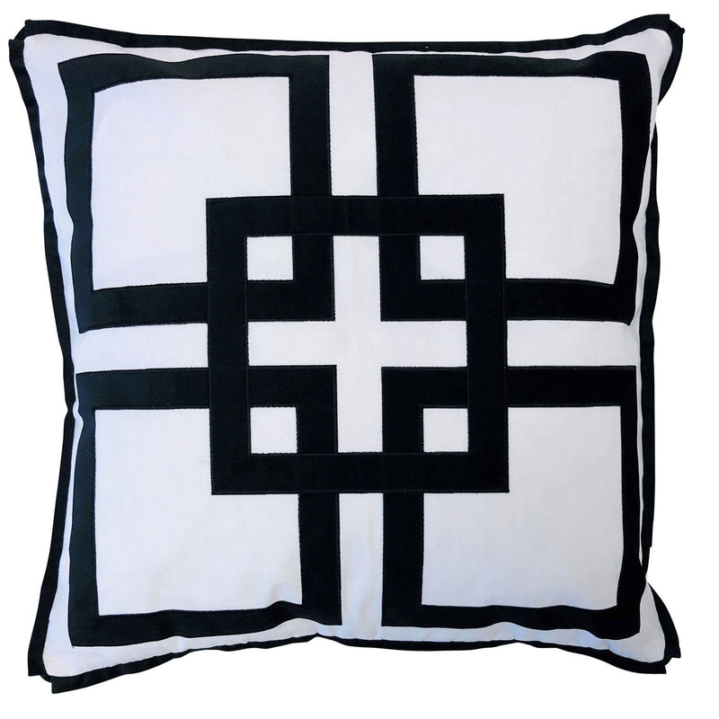 Kirribilli Black 50cm Cushion Cover-Bibilo