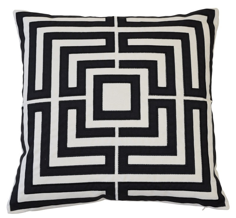 Acapulco Black 50cm Cushion Cover-Bibilo