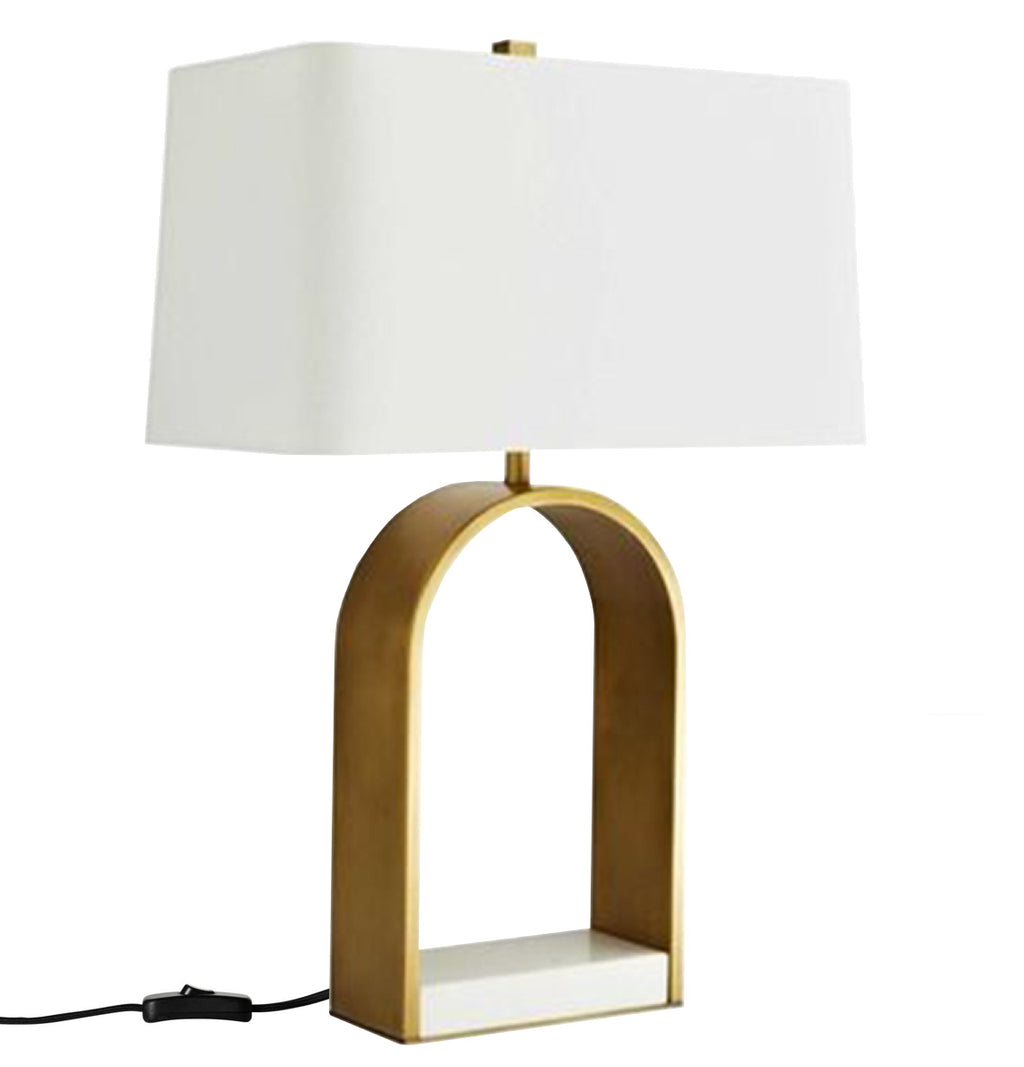 Hugo Table Lamp Brass White-Bibilo