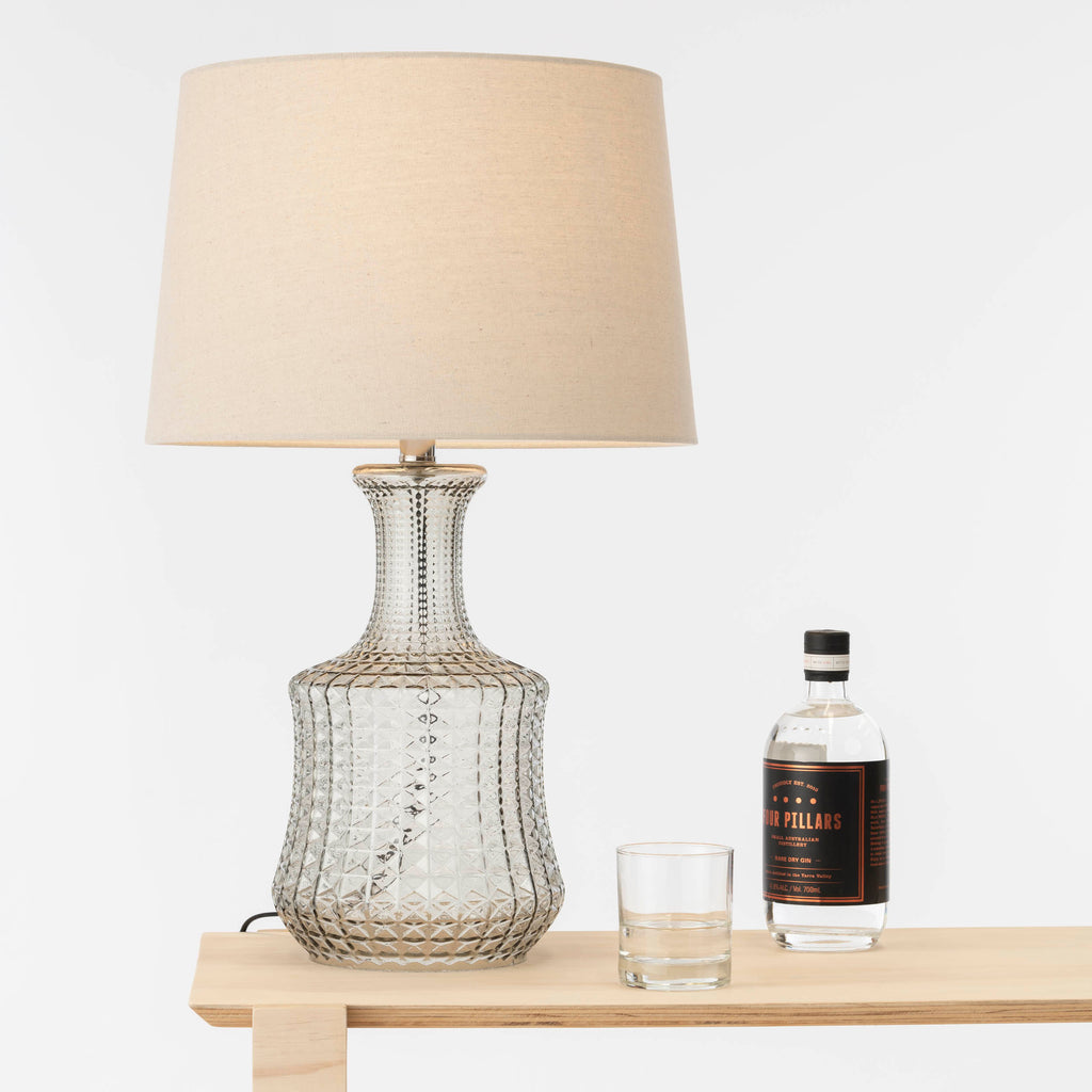 Estelle Glass Table Lamp Fawn-Bibilo