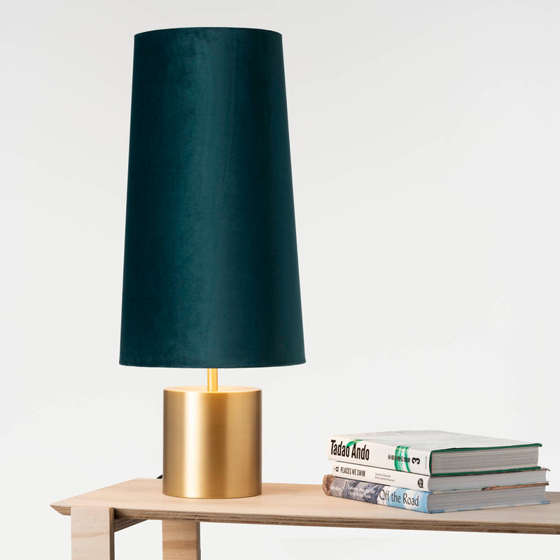 Prescott Table Lamp Gold Teal-Bibilo