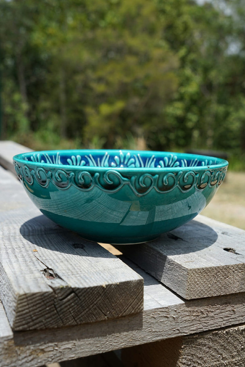 Maras Dessert Bowl Sea Green Set of 2-Bibilo
