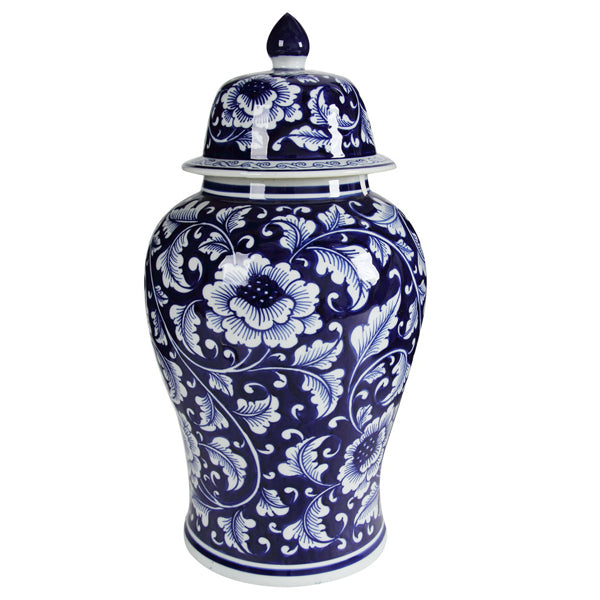 Trellis Ceramic Ginger Jar Large-Bibilo