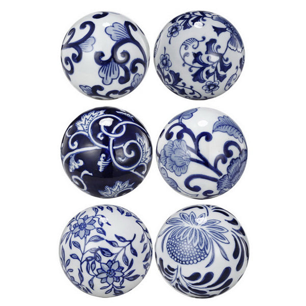 Hamptons Decorator Balls Set of 6-Bibilo