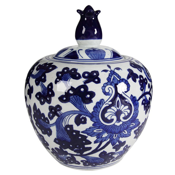 Poppy Ceramic Ginger Jar-Bibilo