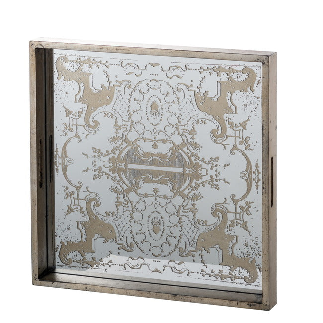 Regal Mirrored Square Tray-Bibilo