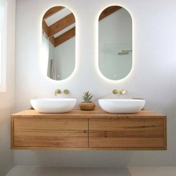 Faro Oval Cool White Backlit Mirror-Bibilo