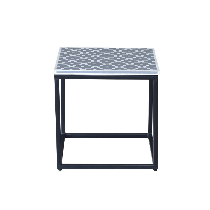 Grosvenor II Bone Inlay Side Tables Grey-Bibilo