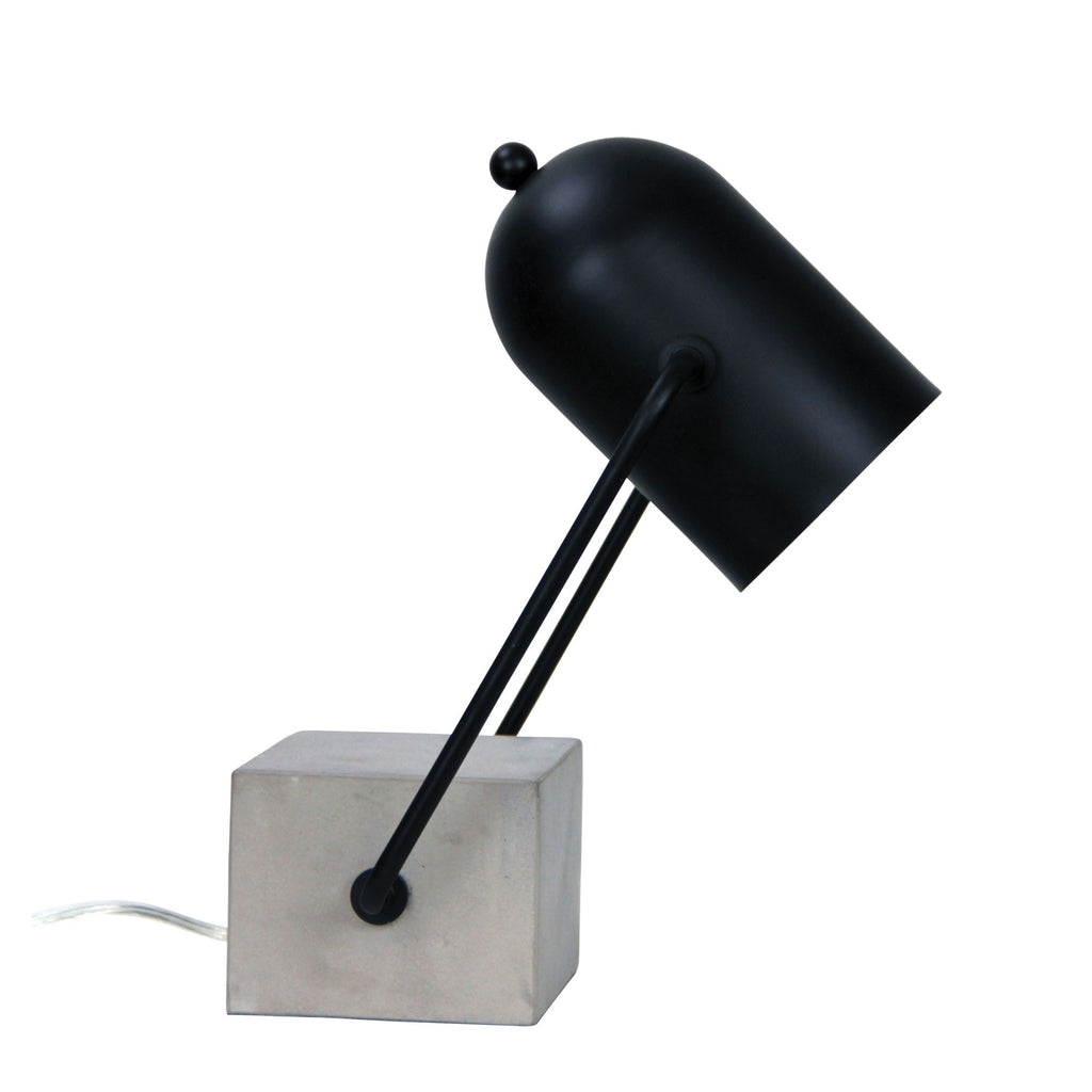Everton Desk Lamp Concrete Black-Bibilo