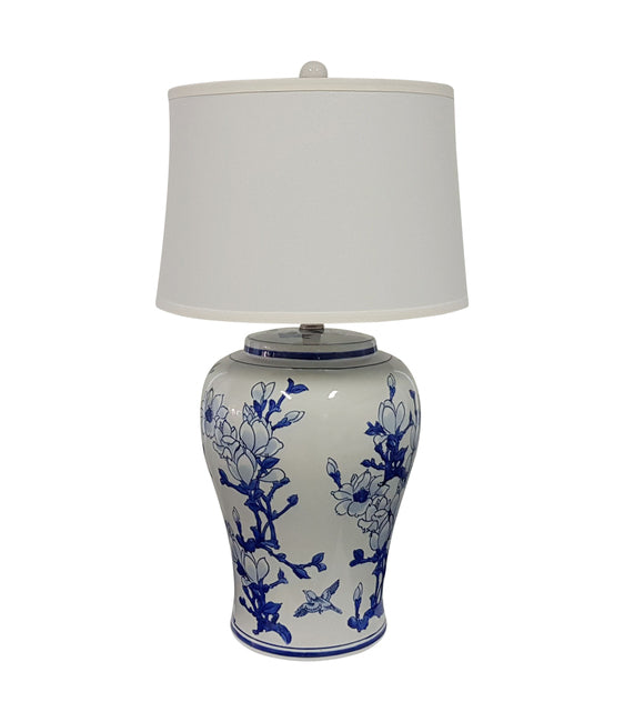 Jonquil Table Lamp White/Blue-Bibilo