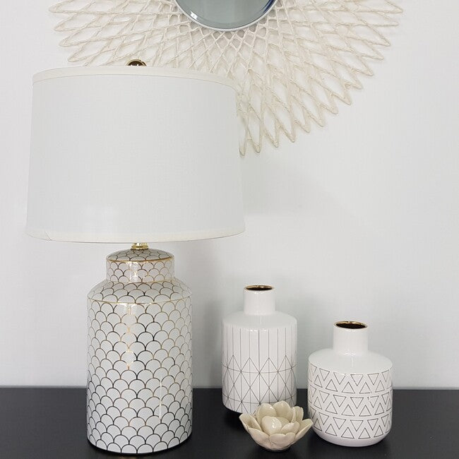 Scalloped Table Lamp Gold-Bibilo