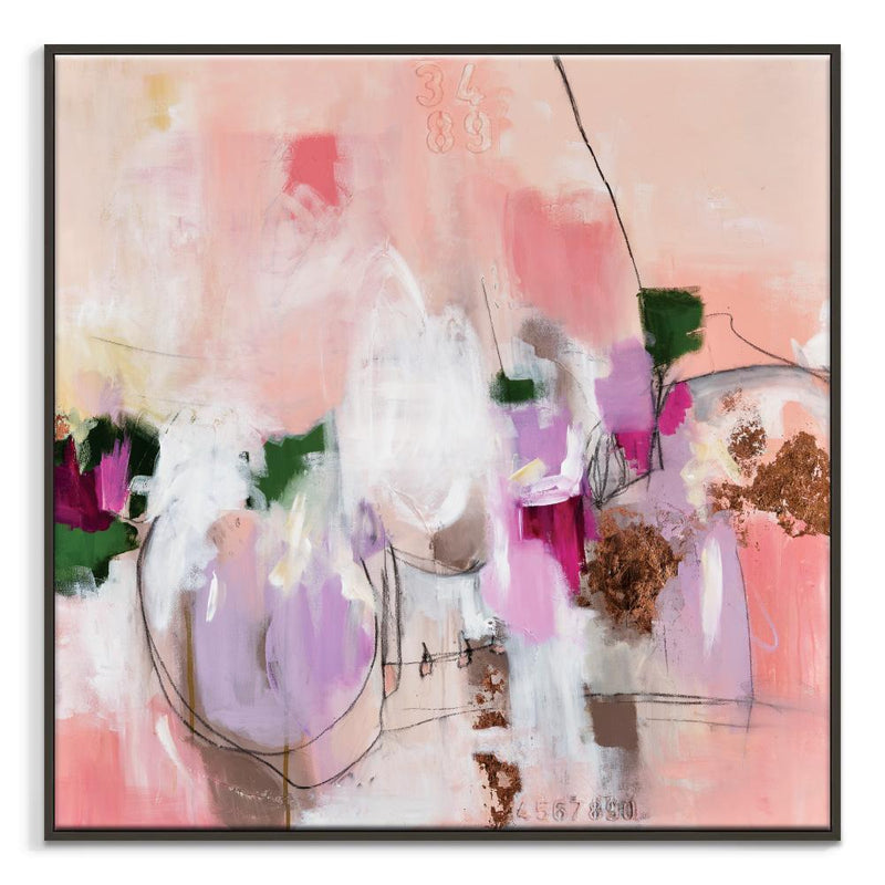 All or Nothing Framed Canvas Print by Julie Ahmad-Bibilo