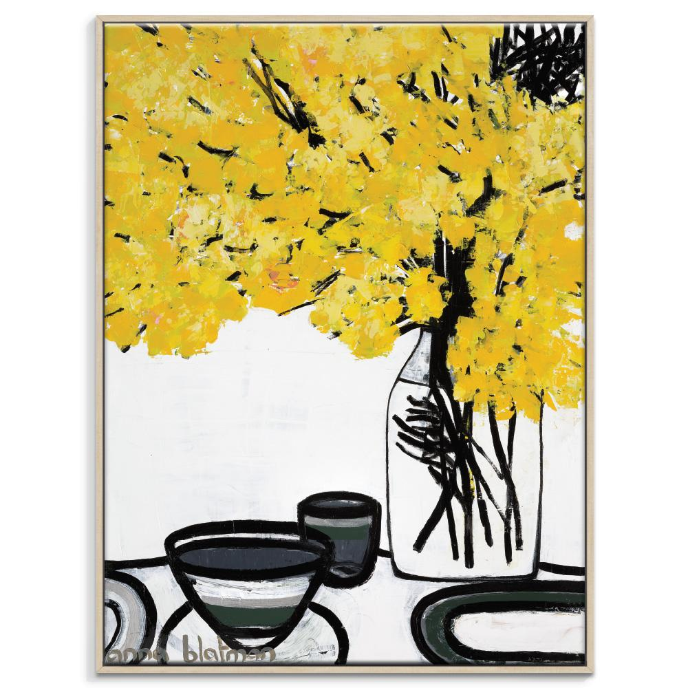 Ada Framed Canvas Print by Anna Blatman-Bibilo