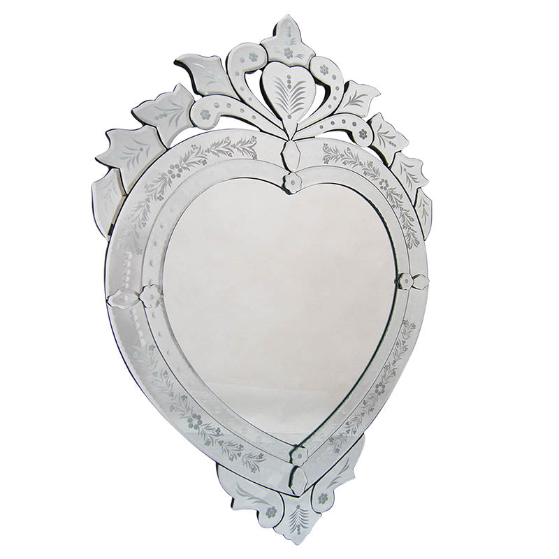 Venetian Heart Shaped Mirror-Bibilo