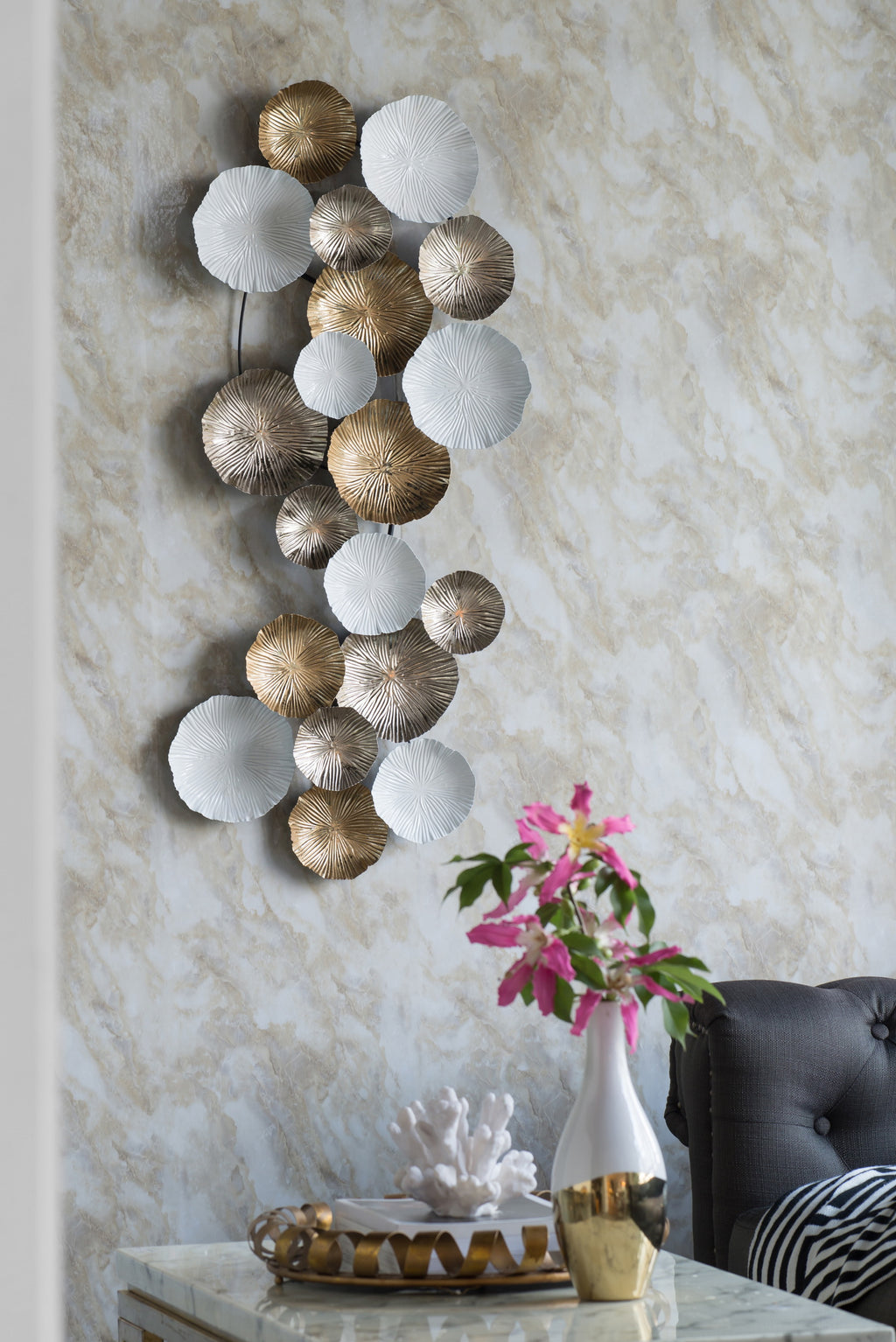 Lotus Metal Wall Art-Bibilo