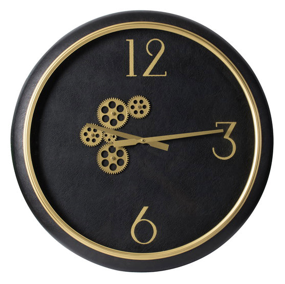 Wonderland Round Wall Clock Large Black-Bibilo
