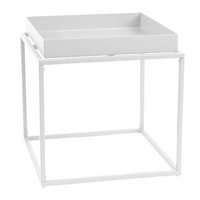 Alto Square Tray Lamp Table White-Bibilo