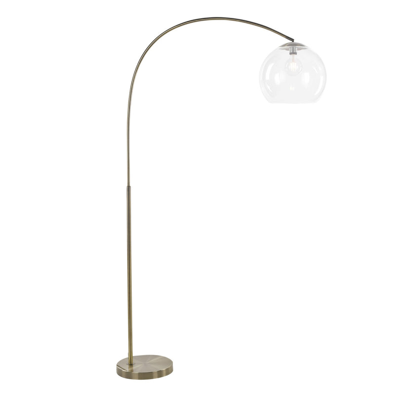 Ova Floor Lamp Antique Brass-Bibilo