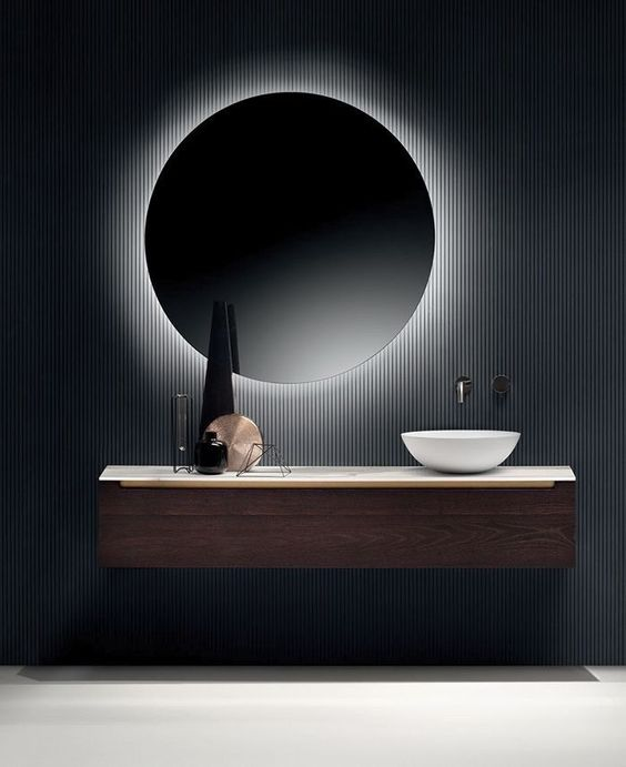 Evora Round 60cm Cool White Backlit Mirror-Bibilo