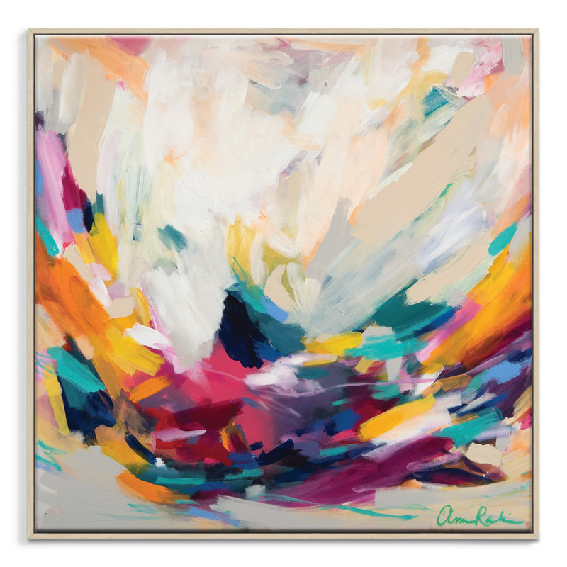 New Beginnings Framed Canvas Print by Amira Rahim-Bibilo