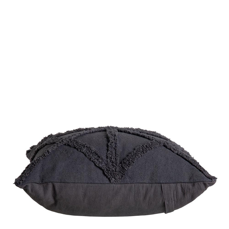 Fiona Woven Tufted 50cm Cushion Charcoal Set of 2-Bibilo