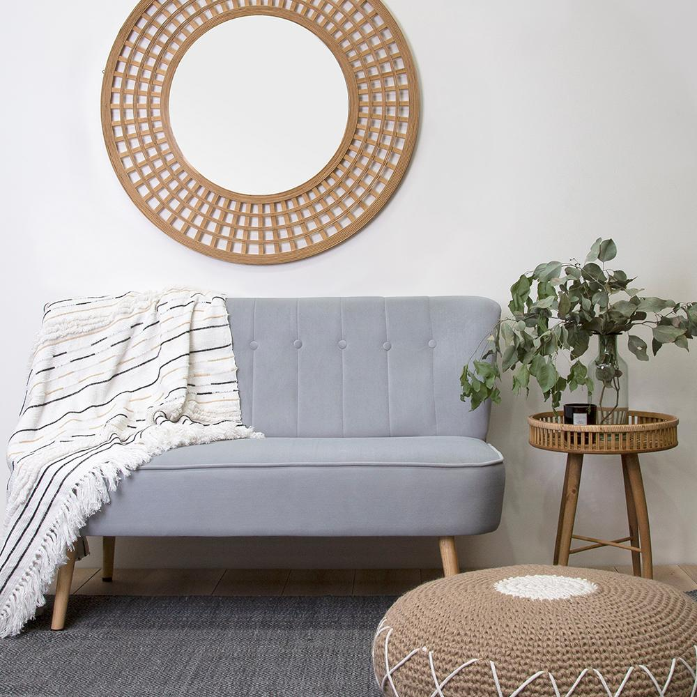 Duke Bamboo Round Mirror Natural-Bibilo