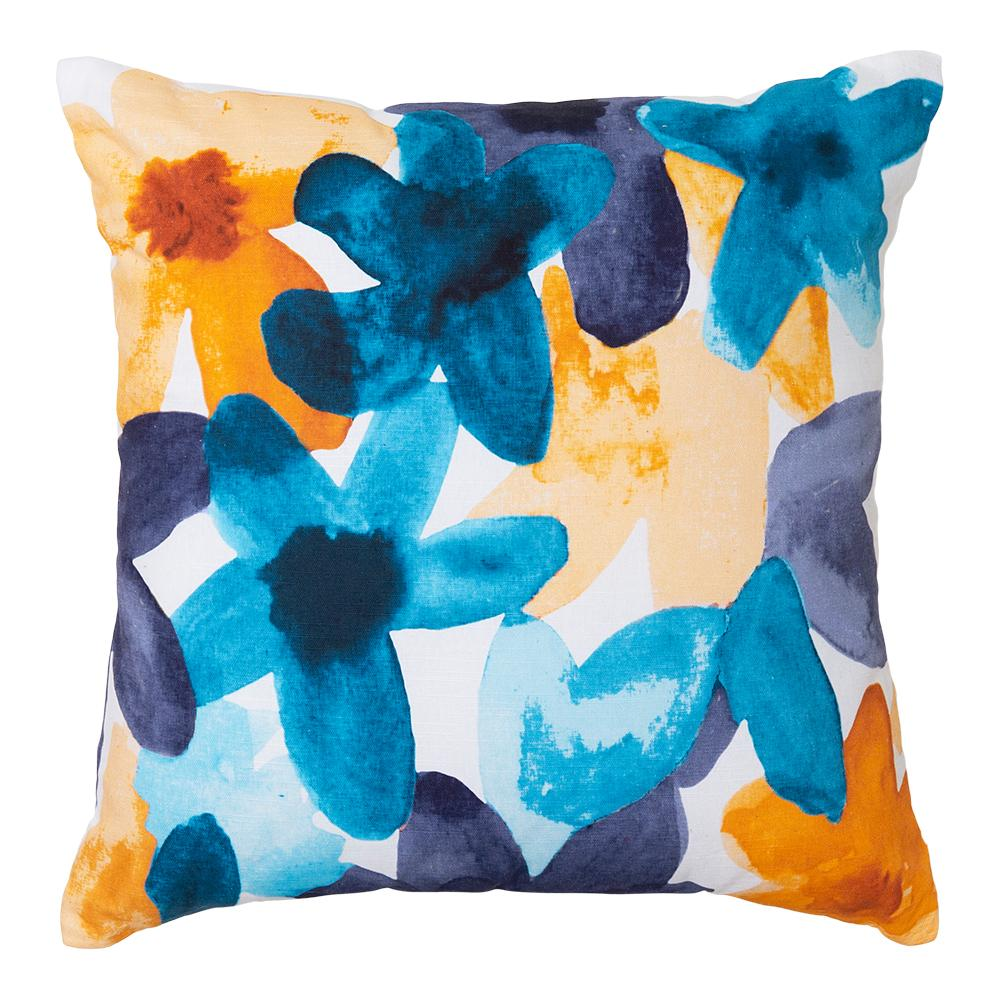 Bloom Square 50cm Cushion Teal Set of 2-Bibilo