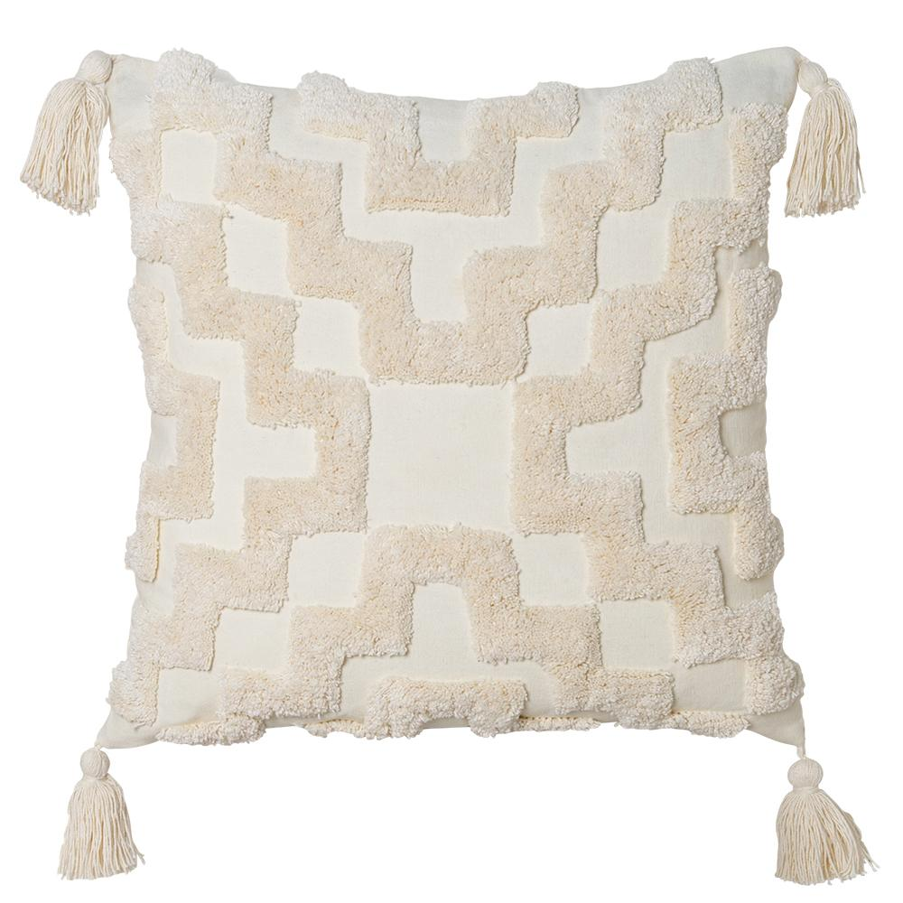 Fletcher 50cm Cushion Ivory Set of 2-Bibilo