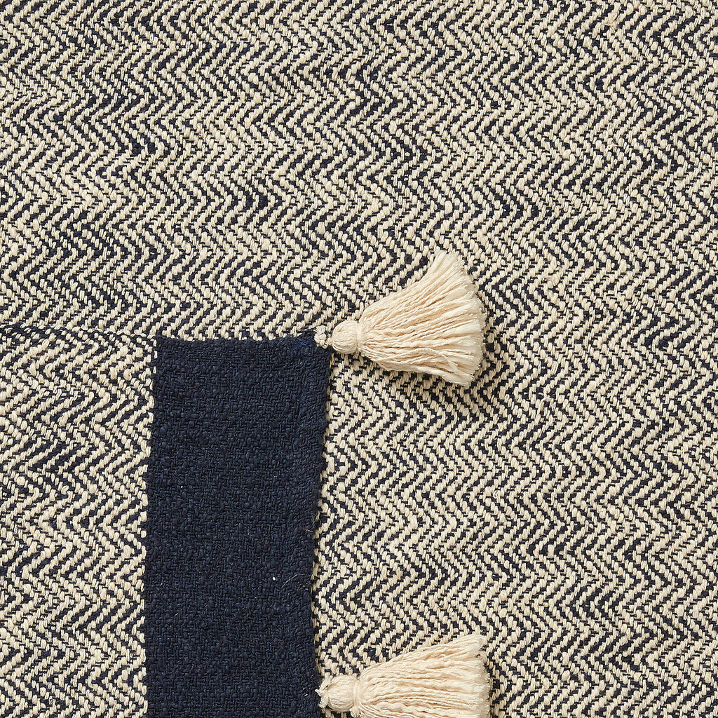 Klein Cotton Throw Blue-Bibilo