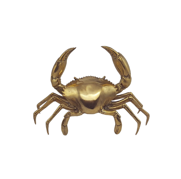 Mr Pinchy Brass Crab Large-Bibilo