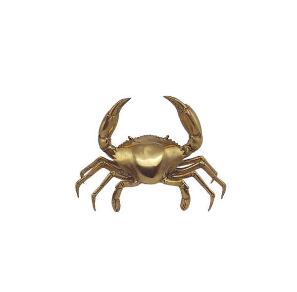 Mr Pinchy Brass Crab Medium-Bibilo