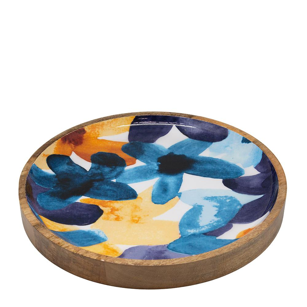 Bloom Wooden Decal Tray Multi-Bibilo